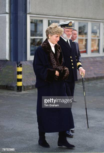 Diana Princess of Wales in Devonport to wish departing sailors goog luck in the Gulf War