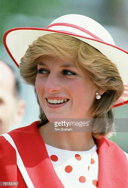 Diana Princess of Wales in Edmonton during an official visit of Canada
