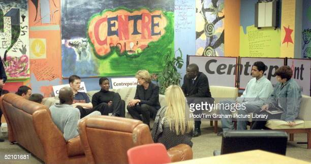 Diana Princess Of Wales In Her Role As Patron Visits Centrepoint To See The Cold Weather Project For Homeless Young People In Kings Cross The...