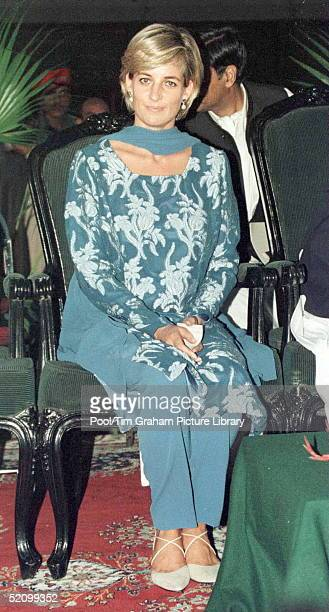 Diana Princess Of Wales In Lahore Pakistan During Her Visit To Help The Shaukat Khanum Memorial Hospital