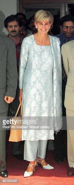 Diana, Princess Of Wales In Lahore, Pakistan, During Her Visit To Help The Shaukat Memorial Hospital