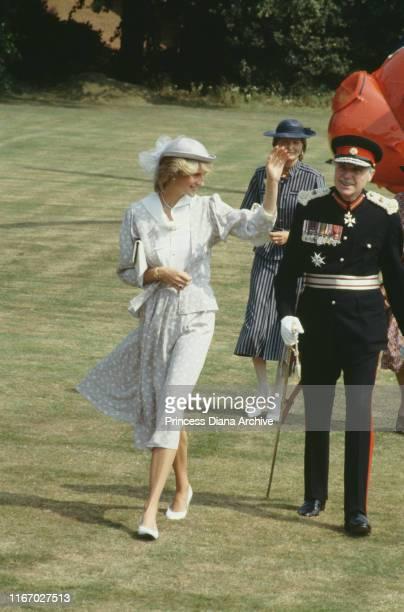 Diana, Princess of Wales in Northampton, July 1983.