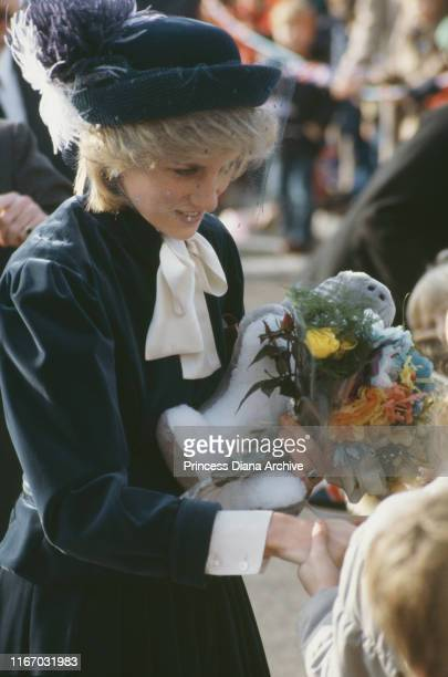 Diana Princess of Wales in Wantage Oxfordshire December 1983