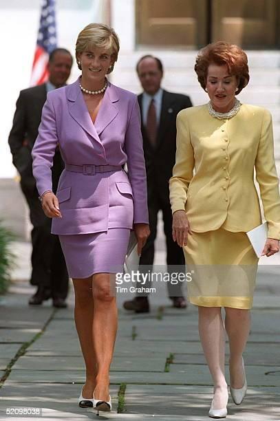 Diana Princess Of Wales In Washington Dc With Elizabeth Dole
