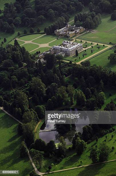 Diana Princess of Wales is buried on The Island in the middle of the manmade lake known as Round Oval in Althorp House the Spencer family ancestral...
