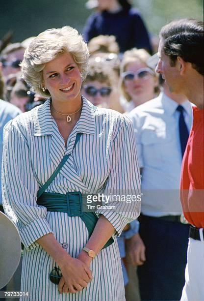 Diana Princess of Wales joins Prince Charles Prince of Wales at a polo match in Melbourne Australia