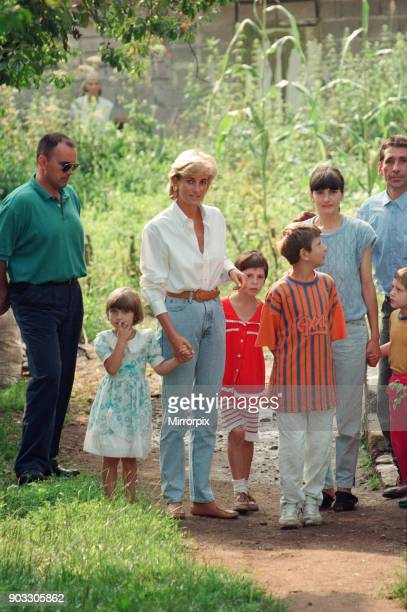 Diana, Princess of Wales makes a three day visit to Bosnia - Herzegovina as part of her campaign to raise awareness about the devastating effects...