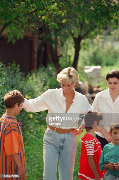 Diana Princess of Wales makes a three day visit to Bosnia Herzegovina as part of her campaign to raise awareness about the devastating effects...