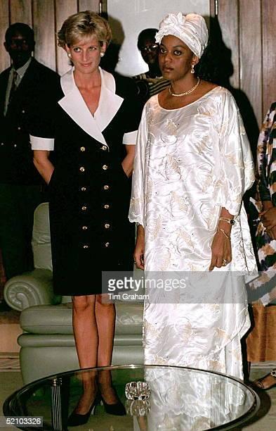 Diana, Princess Of Wales, Meeting Ana Paula Dos Santos, The Wife Of The President Of Angola.