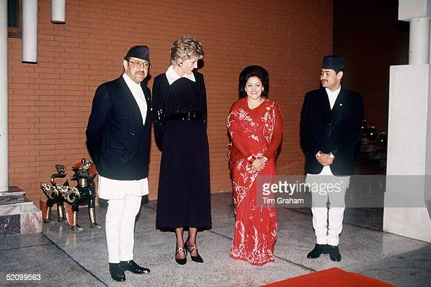 Diana Princess Of Wales Meeting King Birendra Of Nepal Queen Aishwarya And Crown Prince Dipendra