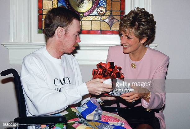 Diana Princess of Wales meets a resident at Casey House an AIDS Hospice in Toronto Canada