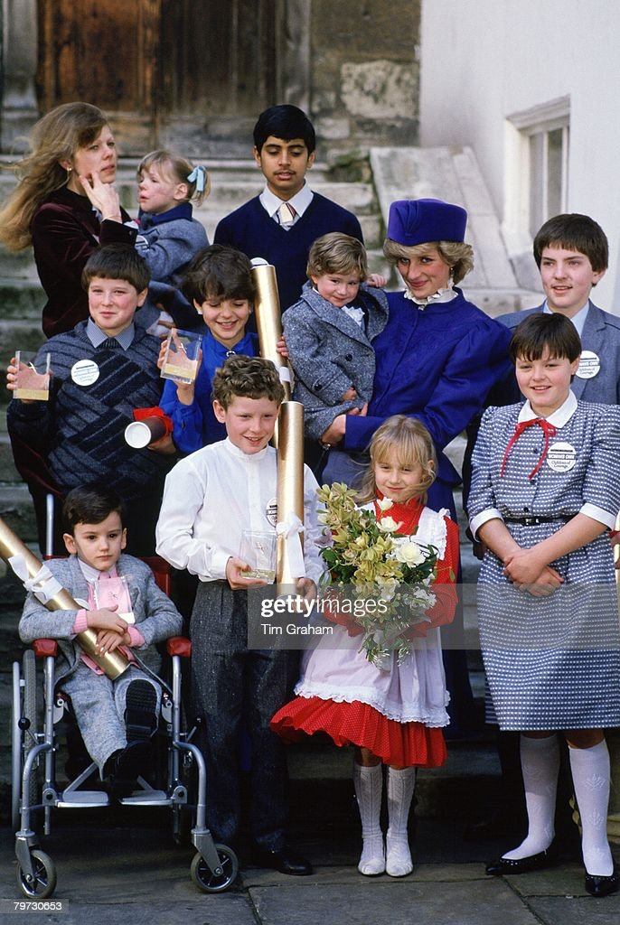 Diana Princess of Wales meets children nominated for 'Childr : News Photo