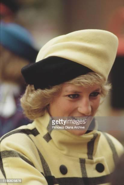 Diana, Princess of Wales meets the crowds in Harrow, England, 18th November 1987.