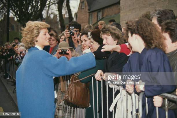 Diana, Princess of Wales meets the public in Nottingham, UK, 23rd February 1989.