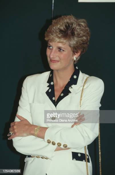 Diana, Princess of Wales officially opens the Burges House nursing home in Cardiff, Wales, 30th June 1993. The facility is run by Ashbourne Homes.