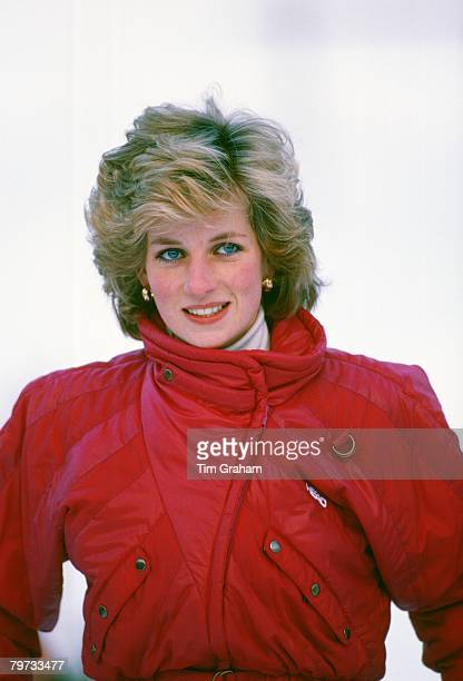 Diana Princess of Wales on a skiing holiday in Vaduz Liechtenstein