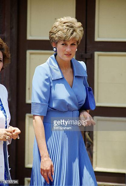 Diana Princess of Wales on a tour of Egypt