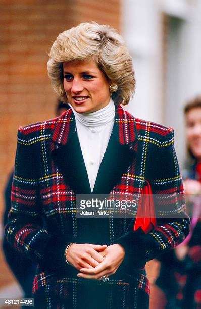 Diana, Princess of Wales on a visit to Portsmouth, on January 23, 1989 in Portsmouth, United Kingdom.