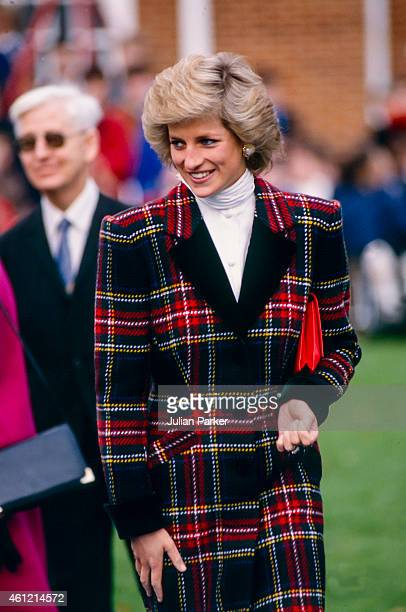 PORTSMOUTH ENGLAND JANUARY 23 Diana Princess of Wales on a visit to Portsmouth on January 23 1989 in Portsmouth United Kingdom