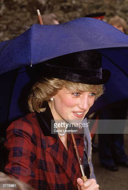 Diana Princess of Wales on a visit to Redruth in Cornwall on April 3 1985 Diana wore a suit designed by Catherine Walker