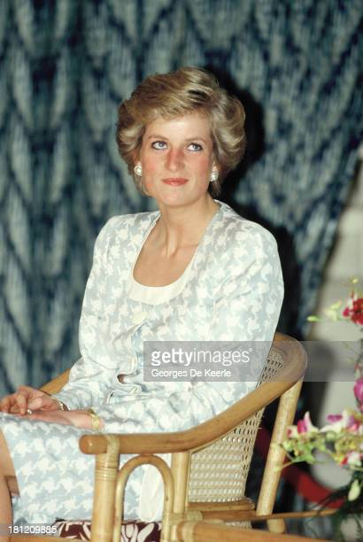 Diana, Princess of Wales, on a visit to the British Internetional School during her official visit to Indonesia on November 6, 1989 in Jakarta,...