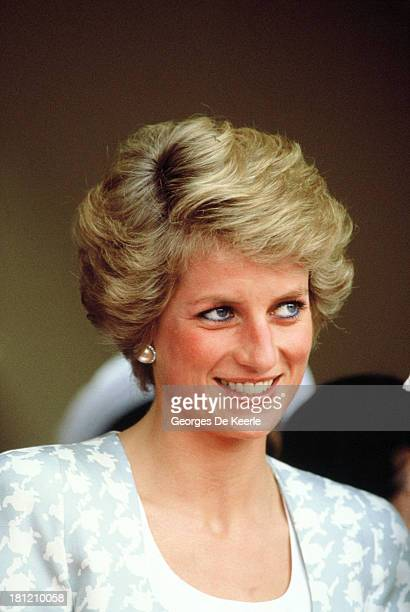 Diana Princess of Wales on a visit to the British Internetional School during her official visit to Indonesia on November 6 1989 in Jakarta Indonesia...