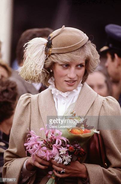 Diana Princess of Wales on a walkabout through the city centre of Christchurch during the Royal Tour of New Zealand on April 28 1983 in New Zealand...