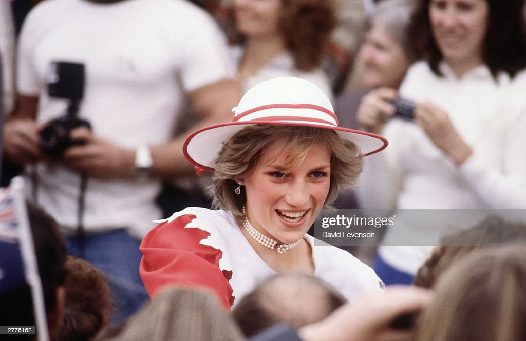 Diana Princess of Wales, on a walkabout through the crowd, April 6, 1983, in Port Pirie, Australia : News Photo