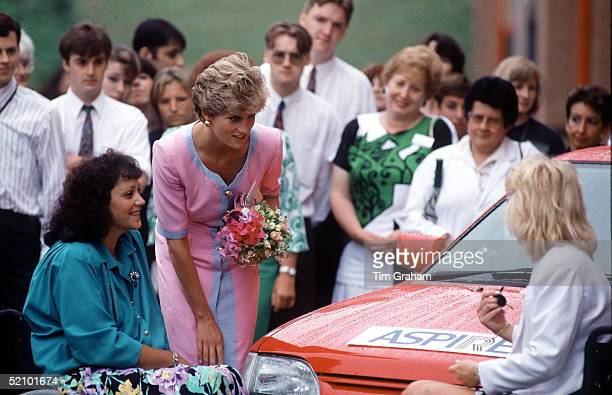 Diana Princess Of Wales On Behalf Of The Charity Aspire At The National Orthopaedic Hospital In Stanmore On Her 31st Birthday On 1st July 1992