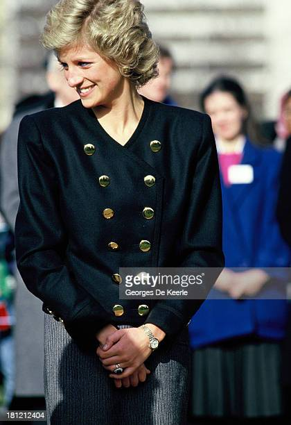 Diana Princess of Wales on February 2 1988 in England