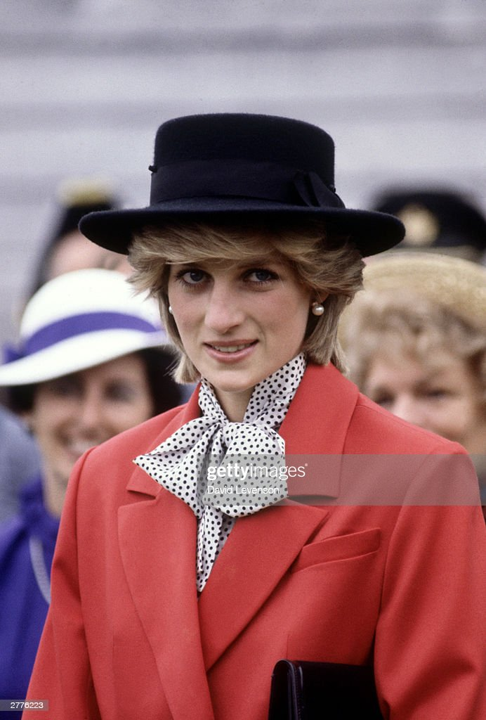 Diana Princess of Wales during a visit to Shelburne, Nova Scotia : News Photo