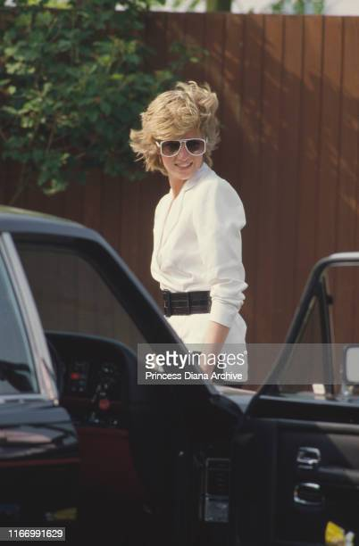 Diana Princess of Wales on Smith's Lawn of the Guards Polo Club in Windsor UK July 1986