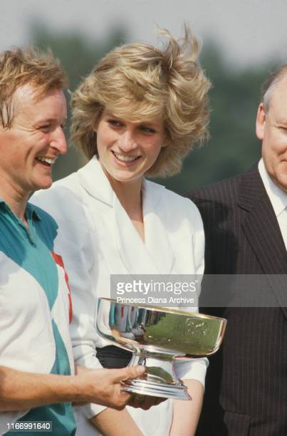 Diana Princess of Wales on Smith's Lawn of the Guards Polo Club in Windsor UK after a match July 1986
