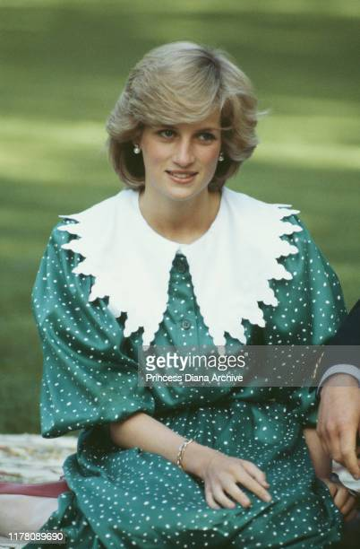 Diana, Princess of Wales on the lawn of Government House in Auckland, New Zealand, 23rd April 1983.