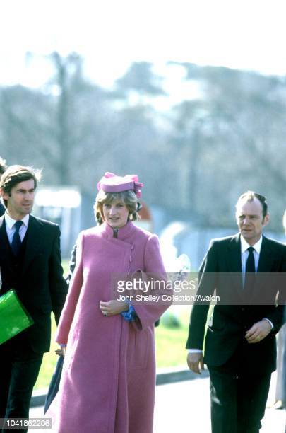 Diana, Princess of Wales, Opening Sony Factory in Bridgend, Wales, 7th April 1982.