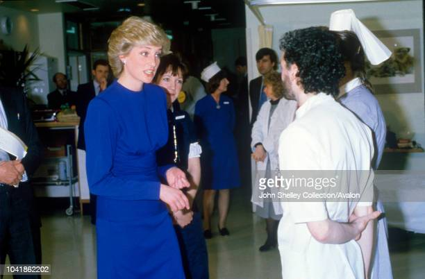 Diana, Princess of Wales, Opening the Broderip Ward at the Middlesex Hospital, London, the first purpose-built ward for patients with AIDS and...