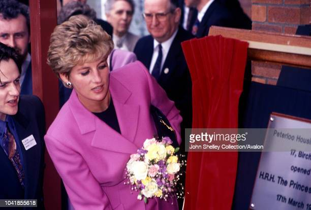 Diana Princess Of Wales opens the Peterloo Housing Project Longsight Manchester 17th March 1993