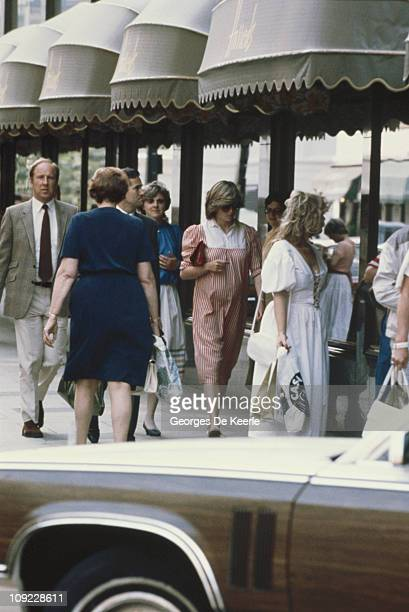 Diana Princess of Wales out shopping at Harrods in London during her first pregnancy 1982