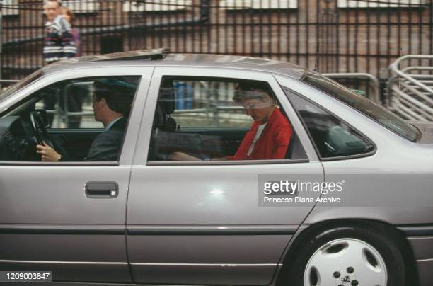 Diana, Princess of Wales outside Great Ormond Street Hospital in London following Prince William's accident, April 1991. The Prince suffered a head...