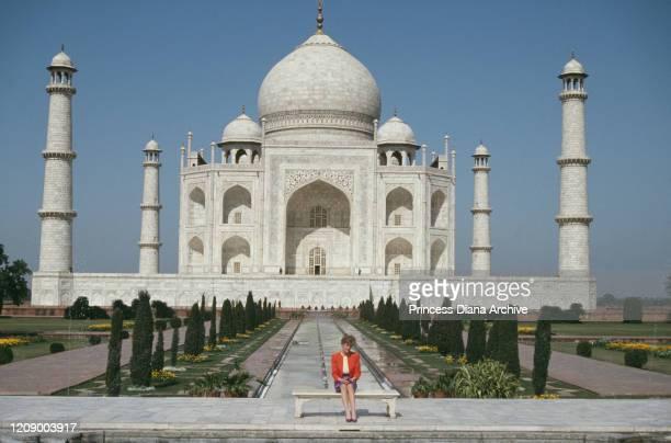 Diana, Princess of Wales outside the Taj Mahal in Agra, India, 11th February 1992.