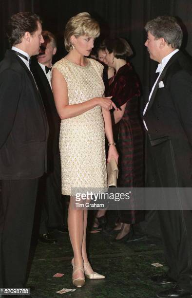 Diana, Princess Of Wales, Patron Of The English National Ballet, Attends A Royal Gala Performance Of Alice In Wonderland At The Coliseum In London....