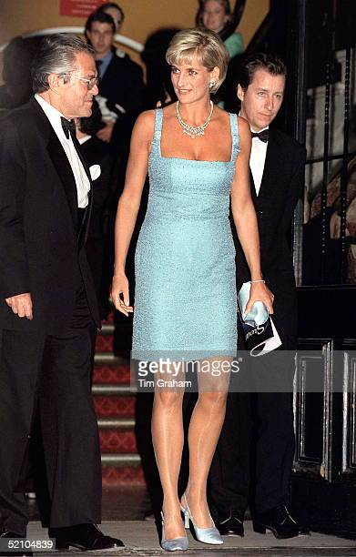 Diana Princess Of Wales Patron Of The English National Ballet Attending Their Royal Gala Performance Of 'swan Lake' At Royal Albert Hall The Princess...