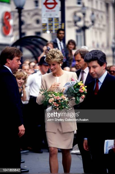 Diana, Princess Of Wales, Patron Of The Institute For The Study Of Drug Dependency, Arriving The The Isdd Media Awards Lunch At The Cafe Royal In...