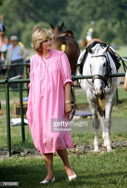 Diana Princess of Wales pregnant at Polo in Windsor