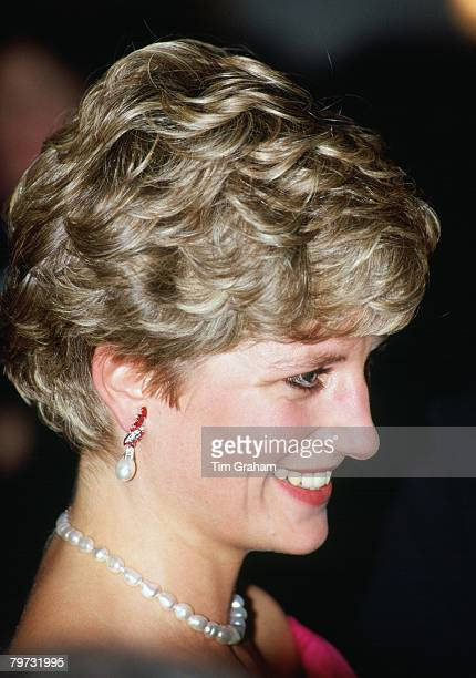 Diana Princess of Wales President of the Royal Marsden Hospital attends the 'Joy to the World' concert at the Royal Albert Hall