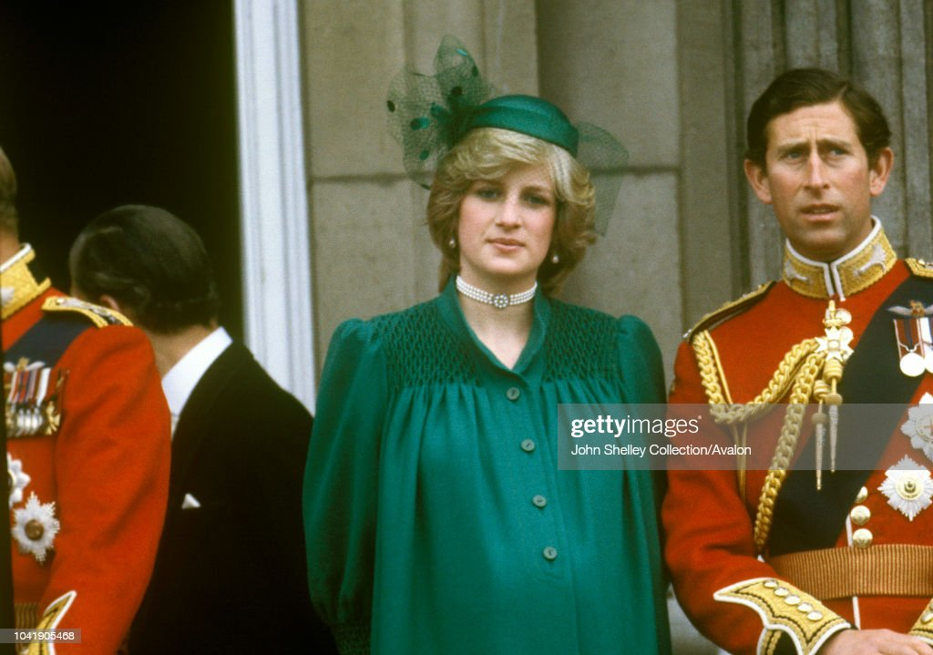 Diana, Princess of Wales,Prince Charles, Prince of Wales ,Diana is pregnant with Prince William ,Trooping the Colour : News Photo