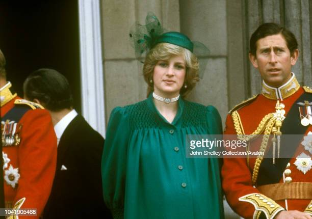 Diana, Princess of Wales, Prince Charles, Prince of Wales, Diana is pregnant with Prince William, Trooping the Colour, 12th June 1982.