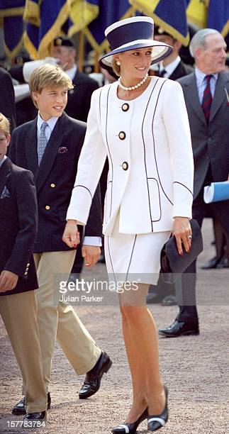 Diana Princess Of Wales Prince William Attend The Vj Day 50Th Anniversary Celebrations In London