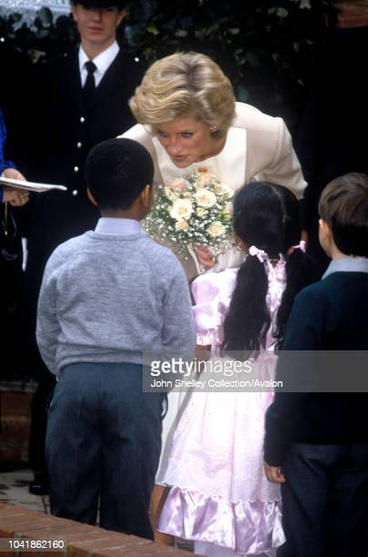Diana, Princess of Wales, Reggie Goves Community Centre, High Wycombe, 13th September 1989.