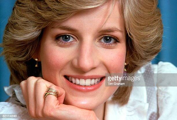 Diana, Princess Of Wales, Smiling During A Private Photo Session At Her Home, Kensington Palace. 1st Febuary 1983